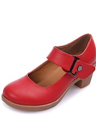 Non Customizable Women's Dance Shoes Modern Leatherette Low Heel Black/Brown/Red