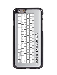 Personalized Case Keyboard Design Metal Case for iPhone 6 Plus