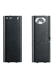 Mini 4GB Voice Recorder with MP3 Player Function(Black)