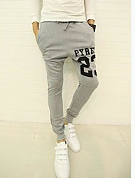 Men's Sweatpants , Casual/Sport Print Roman Knit