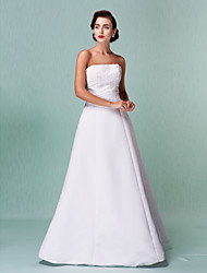 Lanting Bride® A-line / Princess Petite / Plus Sizes Wedding Dress - Classic & Timeless / Reception Floor-length Strapless Satin with