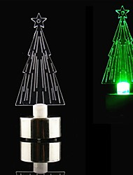 LED Candle Style Colorful Mini Desktop Christmas Tree - CR2032 Included