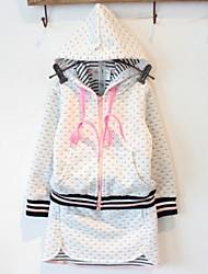 manera de la muchacha y de ocio con capucha de manga larga conjunto de ropa deportiva