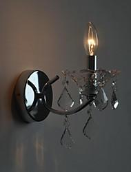 lámpara de cristal de hierro sola cabeza