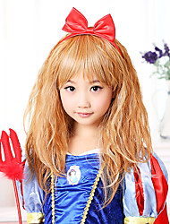 Lovely Snow White Brown Fluffy Hair 40cm Kids' Halloween Party Wig