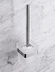 Contemporânea Quadrate aço inoxidável escova de vaso sanitário Titular