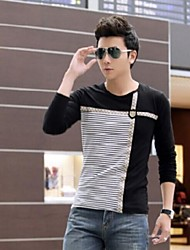 Men'sHan Edition Cultivate One's Morality Long-Sleeved Render Unlined Upper Garment Top