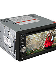 "6.2"" Motorized Touch Screen 2-Din Car DVD Player with DVD,ATV,Bluetooth,Ipod,FM,SD/USB,SWC"