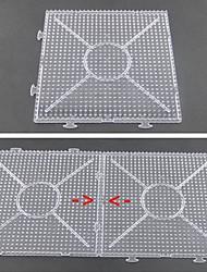1pcs plantilla grande y nítida tablero vinculable general de 15 * 15 cm cuadrados de Hama Beads 5mm Perler Beads fusionan cuentas