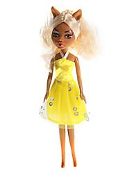 moda menina estudantes assustadores barbie brinquedos (cor aleatória)