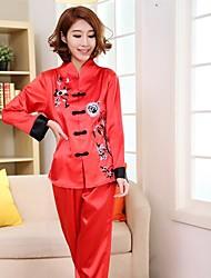 Women Lace/Polyester/Satin/Silk Pajama Medium