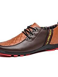 Sapatos Masculinos Oxfords Preto / Azul / Marrom / Azul Marinho Couro Casual