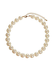 Qieli Temperament Pearl Beads Simple Short Type Necklace