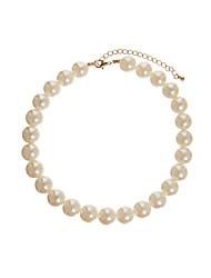 qieli темперамент жемчужные бусы просто короткие тип ожерелье