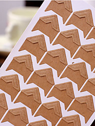 Kraft Paper DIY Photo Corner Protector Sticker(24 Stickers/PCS)