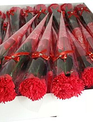 1 PCS Holiday Gifts Carnations Shape Soap Flowers(Random Color)
