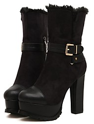 Women's Shoes Platform Round Toe Chunky Heel Ankle Boots with Zipper More Colors available