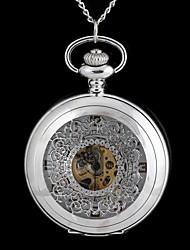 vintage grande clássico padrão de metal clamshell bolso mecânico relógio colar em forma circular-Watch (1pc)