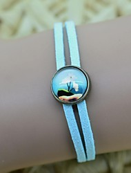 Women's Galaxy Floral Pattern Series Time Gem Bracelet