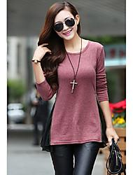 j&k em torno do pescoço ajuste solto t-shirt das mulheres