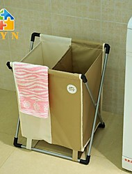 BYN Double Bag Laundry Basket,45*35*55cm
