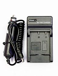 chargeur de batterie de l'appareil avec un chargeur de voiture pour fuji fnp40 / 0837/0737 / d-l18 (100-240)