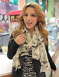 корейский мода новый зимний узор шифоновый шарф Мэрилин Монро длинный шарф женщин