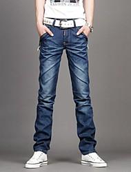 mannen casual jeans broek puur katoen mengsels broek