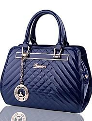 nouvelle mode en cuir sac à main de brevet piqué des femmes