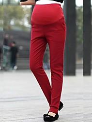 maternidade forro polar leggings magro para as mulheres grávidas calças estreitas