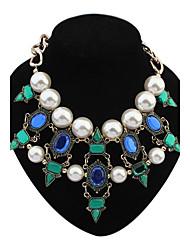 eu des femmes&Nous couches perles perles géométrique grappe collier déclaration de dossard