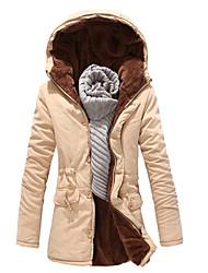 cotone degli uomini senleisi Slim di lana lungo cappotto di lana medio