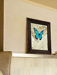Framed 3D Art Wall Art , Animal 3D Butterflies Wall Decor on Satined Paper with Brown PS Frame