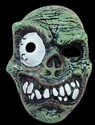 Halloween fournitures de mascarade pvc crâne d'horreur avec mono-oculaire masque délicat