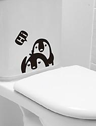 Cartoon Penguin Toilet Sticker