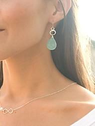 europeo moda lucky 8 imitación collar de la aleación de la perla colgante flaca de las mujeres (1 pc)