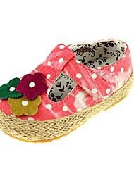 Chaussures fille bout ouvert talon plat toile appartements avec tressés chaussures de sangle plus de couleur disponibles