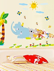 Doudouwo® Wall Stickers Wall Decals,  Animals My Animal World PVC Wall Stickers