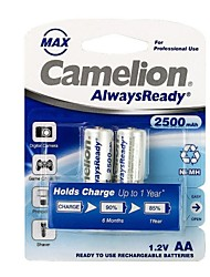 Camelion AlwaysReady 2500mAh Low Self-discharge Ni-MH AA Rechargeable Battery (2pcs)