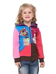 kinderrechten truien mode winter kleding bloemen borduurwerk met lange mouw voor antumn winter gilrs hoodies willekeurige afdruk