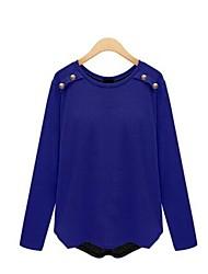 codice di grandi dimensioni splicing camicia bottoming camicia a maniche lunghe delle donne