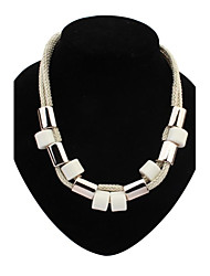 Women's EU&US Simply CCB Beads String Fashion Bib Statement Necklace