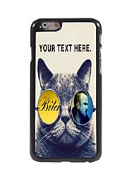 Personalized Case Cool Cat Design Metal Case for iPhone 6 Plus