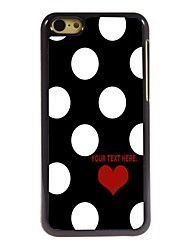 Personalized Case Lovely Dots Pattern Metal Case for iPhone 5C