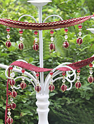 32 feet Country Graceful Hand Made Trim - Burgundy Pendant