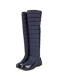 Women's Shoes Fashion Boots Wedge Heel Nylon Knee High Boots with Buckle More Colors available