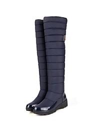 Zapatos de mujer - Tacón Cuña - Botas a la Moda - Botas - Oficina y Trabajo / Vestido - Nailon - Negro / Azul