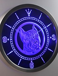 nc0356 Pit Bull Dog Shop Pet Animals Neon Sign LED Wall Clock
