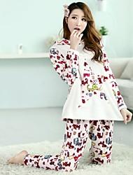 Maternity's Fashion Cute Dog Breastfeeding Pajamas Clothing Set