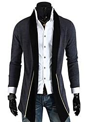 dos homens novo hot moda não andorinha fivela manga longa cardigan